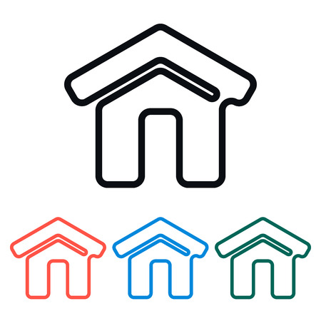 simple house: Simple House Home Icon, Vector Illustration