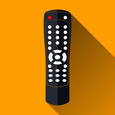 llaves: Icono de control remoto Moderno, Long Shadow dise�o, ilustraci�n vectorial