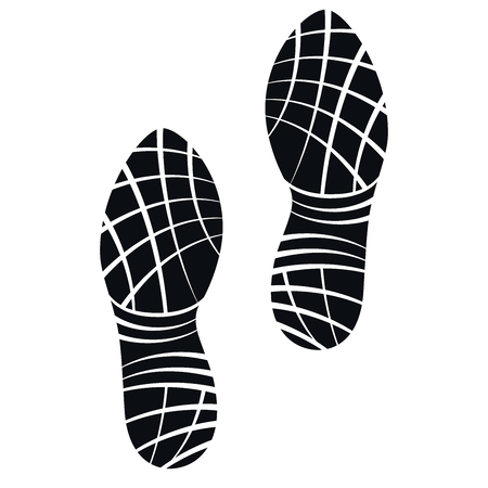 running shoes: Running Shoes Foot Print, Vector Illustration