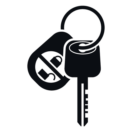 Car Alarm and Key Icon, Vector Illustration