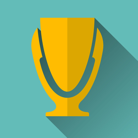 Modern Trophy Cup Icon Design Vector Illustration Stock