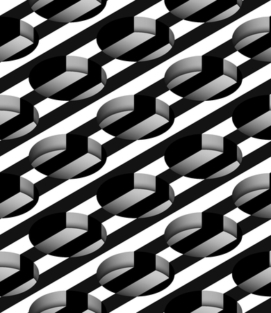 cylindrical: Striped 3D Cylindrical Holes Vector Seamless Pattern Background