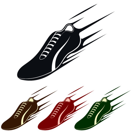 long distance: Running Shoe Symbol or Icon, Vector Illustration Illustration