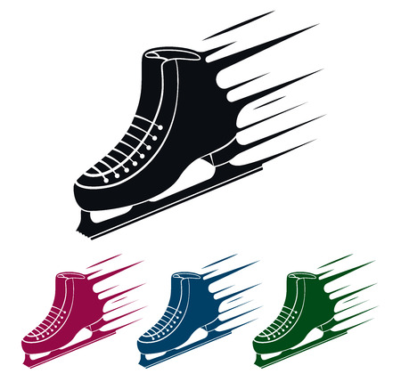 Ice Skate Icon, Speed Concept, Vector Illustration