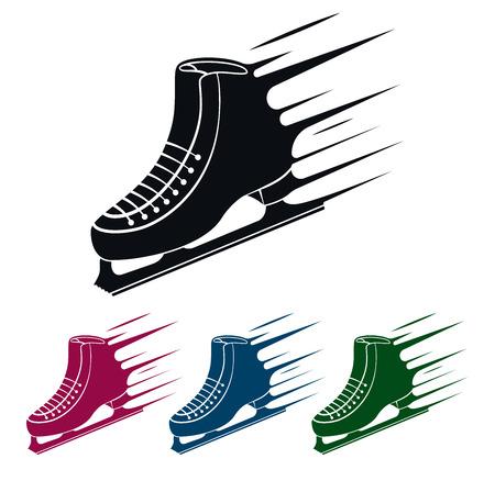 Schaats Icoon, Speed Concept, Vector Illustratie Stock Illustratie