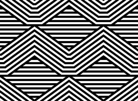 latticed: Abstract Black and White Striped Vector Seamless Pattern