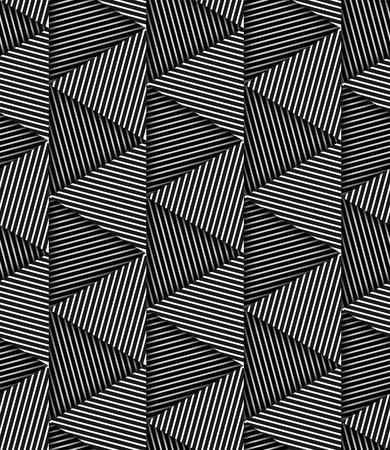 Estratto a strisce Triangoli geometrico Vector Seamless Pattern di sfondo Vettoriali