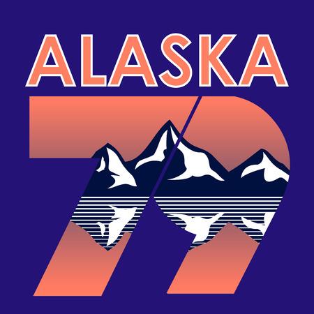 Alaska Landscape 1979 T-shirt Typography Graphics, Vector Illustration Ilustracja