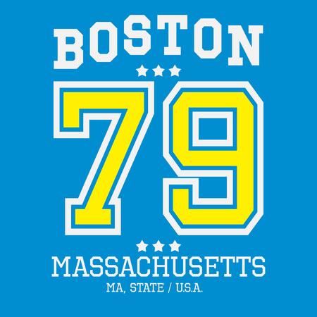 Boston Sport Team T-shirt Typography Graphics, Vector Illustration