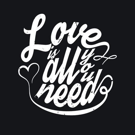 All You Need Is Love T-shirt Typography Graphics, Vector Illustration Ilustracja