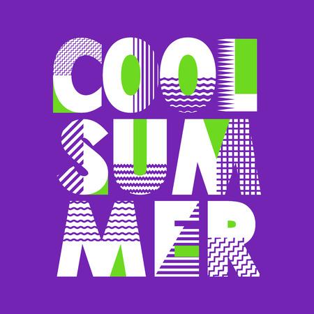 Cool Summer T-shirt Typography Graphics, Vector Illustration Ilustracja