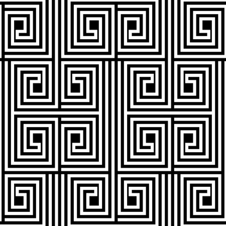 Abstract Black and White ZigZag Vector Seamless Pattern Ilustracja