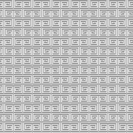 Sharp Pixel Subtle Spiral Texture Background. Vector Seamless Pattern. Ilustracja