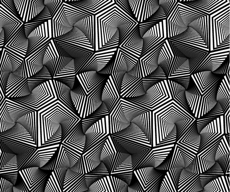 Abstract Geometric Triangular Vector Seamless Pattern Background