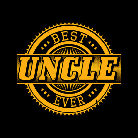 Best Uncle Ever T-shirt Typography Graphics, Vector Illustration Ilustracja
