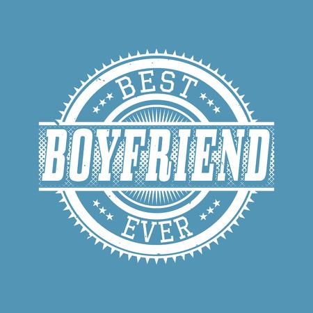 Best Boyfriend Ever T-shirt Typography Graphics, Vector Illustration