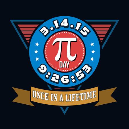 matemáticas: Día Pi Humor gráficos de la camiseta de la tipografía, ilustración vectorial