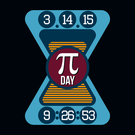 pi: Pi Day Humor T-shirt Typography Graphics, Vector Illustration