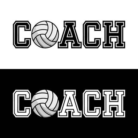 Coach T-shirt Typography Graphics, Vector Illustration Vettoriali