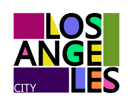 Los Angeles City, Modern T-shirt Typography Graphics, Vector Illustration