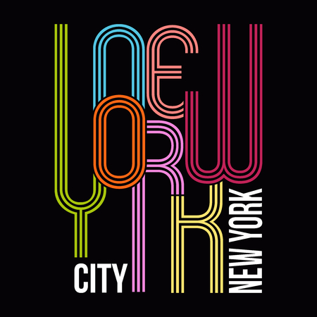 New York, Modern T-shirt Typography Graphics, Vector Illustration