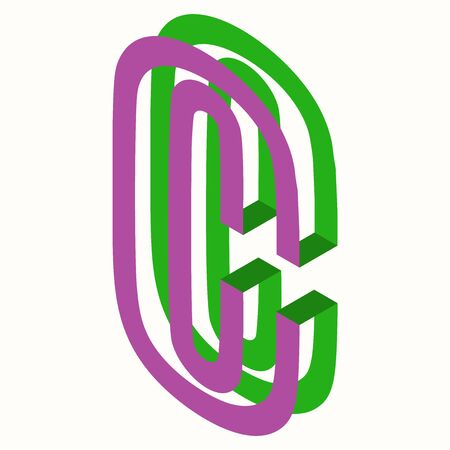 Letter C Icon Design Template Tlement, Vector Illustration