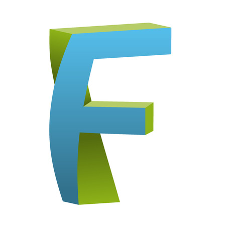 Twisted Letter F Icon Design Template Tlement, Vector Illustration