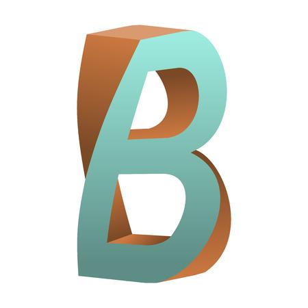 手紙 B アイコン デザイン テンプレート Tlement、ベクトル図をツイスト