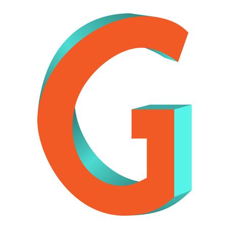 不可能の文字 G ロゴ アイコン デザイン テンプレート Tlement、ベクトル図をツイスト