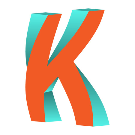 Twisted Impossible Letter K Logo Icon Design Template Tlement, Vector Illustration Vettoriali