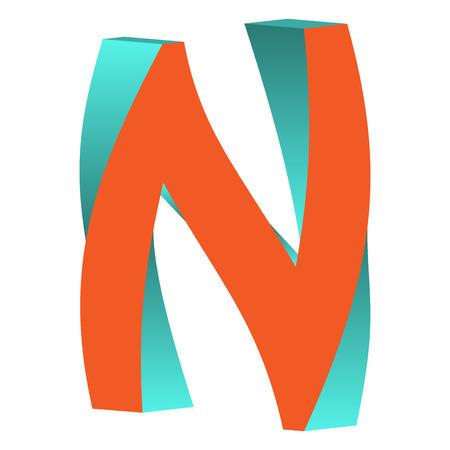 不可能の文字 M ロゴ アイコン デザイン テンプレート Tlement、ベクトル図をツイスト