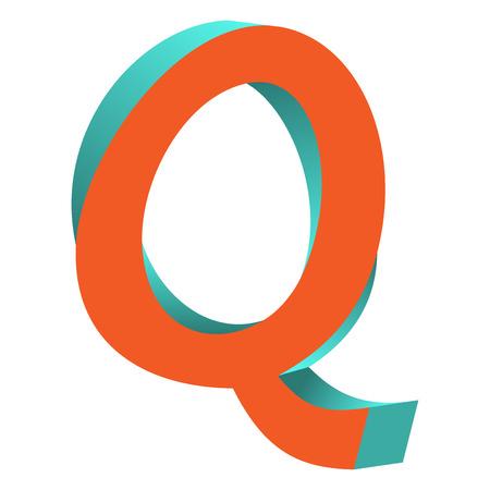 不可能の文字 Q ロゴ アイコン デザイン テンプレート Tlement、ベクトル図をツイスト
