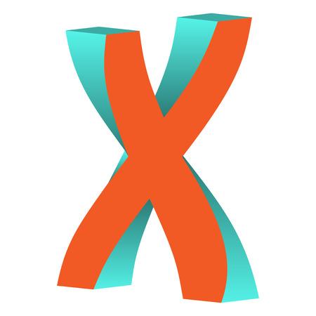不可能文字 X ロゴ アイコン デザイン テンプレート Tlement、ベクトル図をツイスト