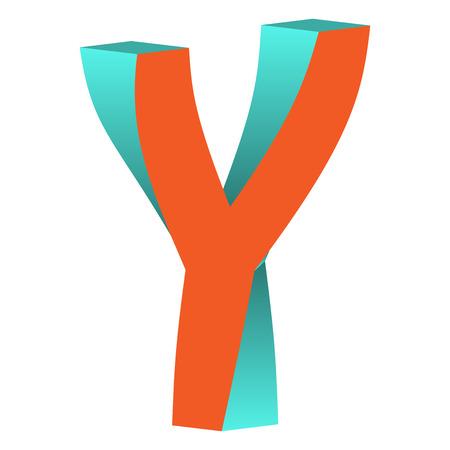 不可能の文字 Y ロゴ アイコン デザイン テンプレート Tlement、ベクトル図をツイスト  イラスト・ベクター素材