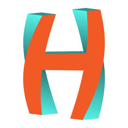 不可能の文字 H ロゴ アイコン デザイン テンプレート Tlement ベクトル図をツイスト 写真素材