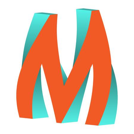不可能の文字 M ロゴ アイコン デザイン テンプレート Tlement ベクトル図をツイスト