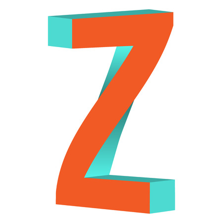 Twisted Impossible Letter Z Logo Icon Design Template Tlement Vector Illustration