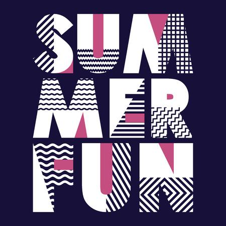 Summer Fun T-shirt Typography Graphics, Vector Illustration Vettoriali