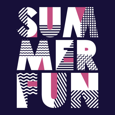 Summer Fun T-shirt Typography Graphics, Vector Illustration Ilustracja
