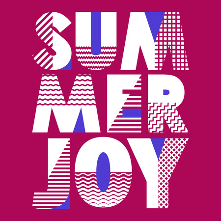 Summer Joy T-shirt Typography Graphics, Vector Illustration