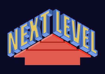Next Level T-shirt Typography Graphics, Vector Illustration Vettoriali