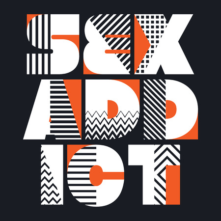 Sex Addict T-shirt Typography Graphics, Vector Illustration
