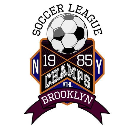 シャンゼリゼ通りのサッカー リーグ ニューヨーク ブルックリン チーム t シャツ タイポグラフィ グラフィックス、ベクター グラフィック 写真素材