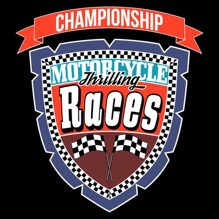 Motorcycle Thrilling Races Badge, T-shirt Typography Graphics Design, Vector Illustration