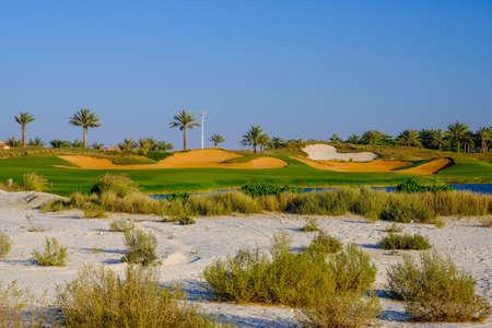 18 Par 4, Golf Course at Saadiyat Island, Abu Dhabi, UAE