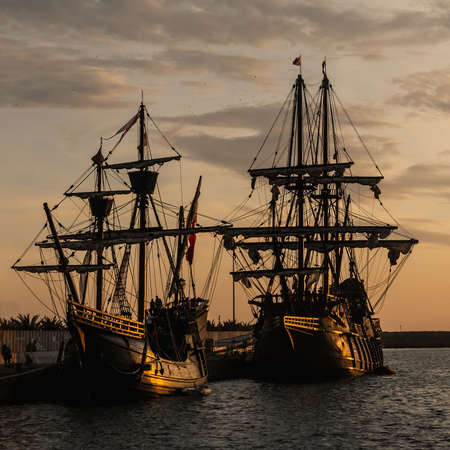 ANDALUSIAN GALLEON:Replica of a 17th century Spanish galleon. NAO VICTORIA:Replica of the ship that made the First Round the World between 1519-1522, skippered by Juan Sebastian Elcano