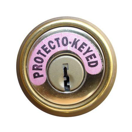 goldish: Shield of Protecto-Keyed Lock Stock Photo