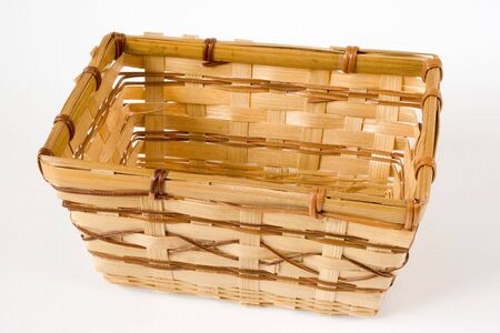A Hand made Wooden Basket 版權商用圖片