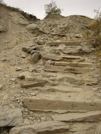detritus: Hiking Trail Rocky Stairs
