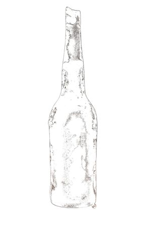 Artistic: Ice Cold Bottle of Water with drops of moisture. Stock Photo
